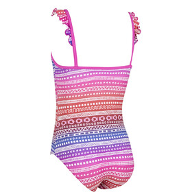 Zoggs Ikat Frill Classicback Swimsuit Children pink/colourful